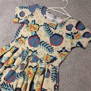 Skater Yellow Roses Amelia Lularoe Dress